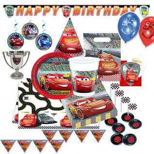 CARS EVOLUTION 3 Party Kindergeburtstag Motto Kinderparty Deko Set Geburtstag