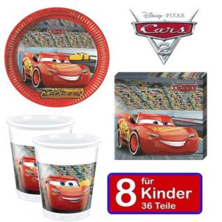 Disney CARS Kinder Geburtstag Party - Teller Becher Servietten - für 8 Kinder