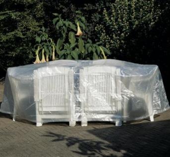 Profiline Schutzhaube Schutzhülle Transparent 200cm Möbelschutzhülle Sitzgruppe