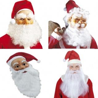 Nikolaus Weihnachtsmann Maske mit Mütze und Bart für Erwachsene - Weihnachten