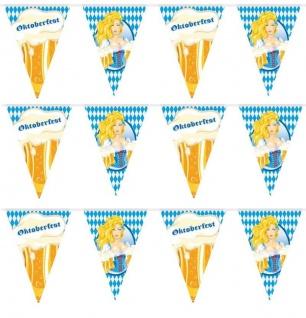 10 Meter Wimpelkette Girlande Bayern wetterfest Oktoberfest Party Deko