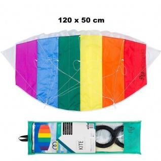 WOW HQ Lenkmatte 120 x 50 cm Lenkdrachen Drachen Kite - DRAGON FLY - Fantasy