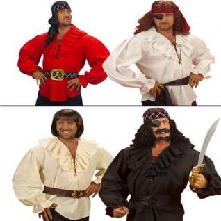 Piraten Hemd - Rüschenhemd Herren Hemd Mittelalter Shirt Pirat M/L 50/52, XL 54