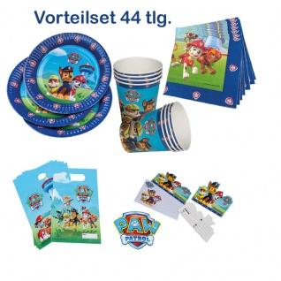 44 tlg.Super Spar-Set Paw Patrol Kinder Geburtstag Party Deko Teller Becher TIP