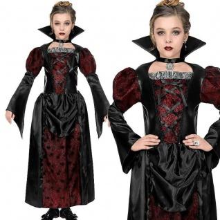 LADY VAMPIRIN - Vampir Kostüm Mädchen Kinder Kleid Auswahl 128 140 158