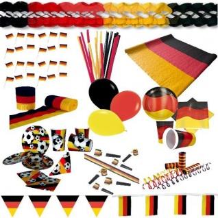 Alles für die Party Deutschland Fan Artikel Dekoration Party WM+EM Auswahl