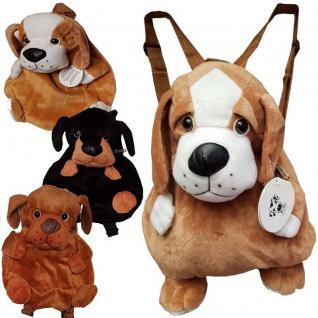 Kinder Plüsch Rucksack Hund Kinderrucksack Kindergartentasche Plüschtier Tasche
