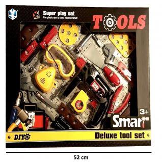 WOW XXL Kinder Werkzeug Set mit Akkuschrauber und viel Zubehör Spielzeug