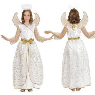 ENGEL KOSTÜM für Kinder Mädchen Engelskostüm Weihnachten - Komplettset Kleid NEU