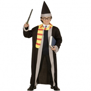 Zauberer ZAUBERLEHRLING 128 f. 5-7 J. Kinder Kostüm Jungen Magier Harry #1146