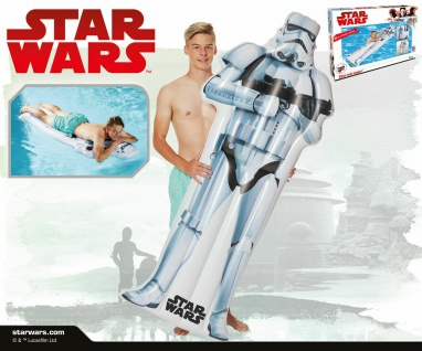 Happy People 16347 Luftmatratze / Badeinsel Star Wars Stormtrooper NEU / OVP