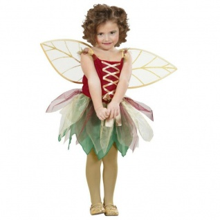 Waldfee Lissy Kostüm Gr. 110 Kleid mit Flügeln Fee Elfe Schmetterling Mädchen