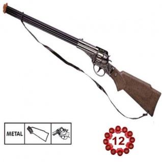 FRONTIER SCOUT Western Metall Gewehr 12 Schuß Ring Munition Kinder Spielzeug