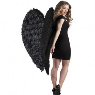 XXL Federflügel große schwarze Engelsflügel 120x120cm riesige Engel Riesenflügel