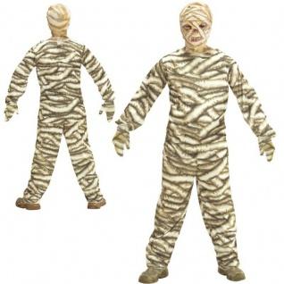 Mumie Kinder Kostüm Zombie für Jungen undMädchen - Karneval Halloween 0728