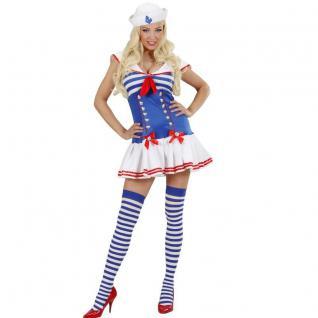 SAILOR GIRL Damen Kostüm Gr. L 42 44 Matrosin Marine Matrose Kleid Mütze #89663