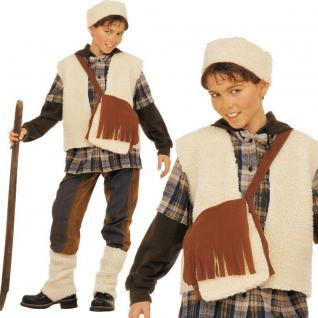 SCHAFHIRTE Kinder Kostüm Gr. 128 - Jungen Karneval Fasching Krippenspiel # 3873