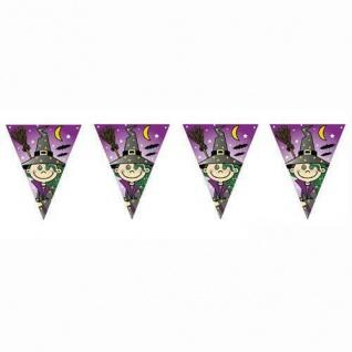 Wimpelkette 600 cm - HEXEN Party Kinder Geburtstag Kleine Hexe Witch