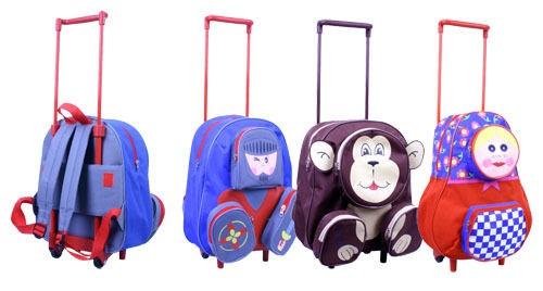 Kinder Trolley Rucksack Koffer drei Motive zur AUSWAHL