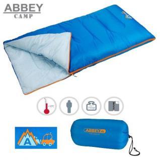 TOP - Abbey Camp Kinder Schlafsack Junior Jungen Deckenschlafsack blau/hellblau