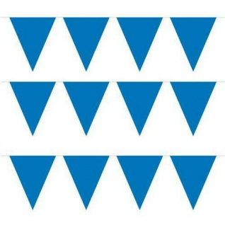 10 m Wimpelkette Wimpelgirlande Blau Party Geburtstag Deko