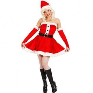 Sexy WEIHNACHTSGIRL KOSTÜM Miss Santa Weihnachtsmann Damen Kleid S M L XL