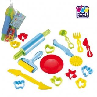 17 teiliges Kinder BACKSET mit Teigrolle/Ausstechform für die Spielküche 47402