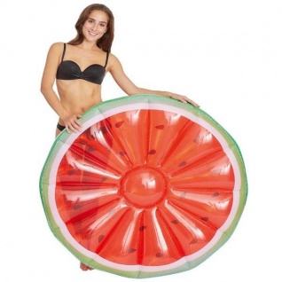 Happy People 77647 Badeinsel Wassermelone Ø 118cm Floater Luftmatratze Pool