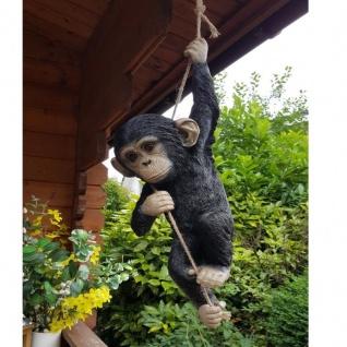 Gartenfigur Affe Schimpanse hängend Figur lebensecht Tierfigur Haus Garten #2964