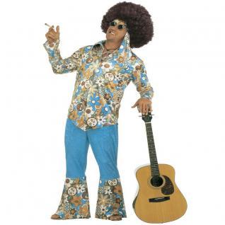 HIPPIE MANN Herren Kostüm XL (56) 70er Jahre Flower Power Karneval Fasching #1H