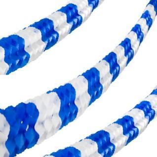 600cm Papier Girlande, 16cm x 16cm, 6 m lang, blau-weiss #3418