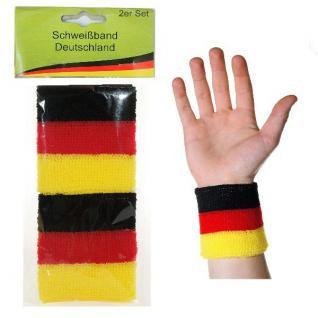 Schweißband 2er Fußball Deutschland Fan Artikel Dekoration WM+EM Auswahl #21069