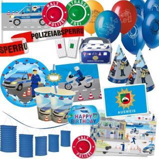 POLIZEI Party Deko - Alles zum Kinder Geburtstag - Polizisten Motto Party