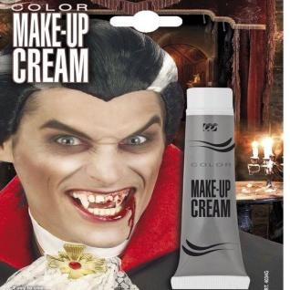 Make Up CREAM 28ml Tube GRAU professionelle Karneval Theater Schminke Halloween
