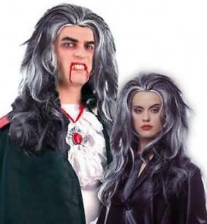 Samanta Perücke schwarz/grau Langhaar Halloween Fasching 35577