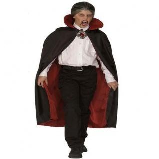 Deluxe WENDE UMHANG mit KRAGEN Dracula, Teufel Kinder Vampir 3567