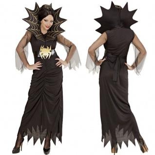 Schwarze Witwe SPIDER LADY 38/40 (M) SPINNEN Damen Kostüm Halloween #9402