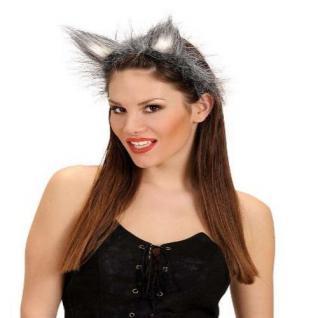 Wolfsohren auf Haarreif Wolf Ohren Fasching Kostüm Wolfskostüm Zubehör