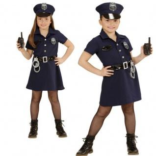 5-tlg. Polizistin Polizei Mädchen Kinder Kostüm - Uniform Kleid 116 128 140 158