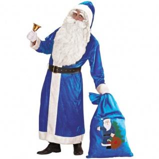 Blauer Nikolaus Weihnachtsmann Kostüm deluxe Gr. XL Santa Claus Weihnachten