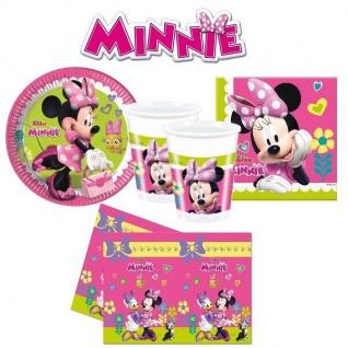 MINNIE MAUS pink Mouse Geburtstag - Teller Becher Servietten Tischdecke - 37 tlg
