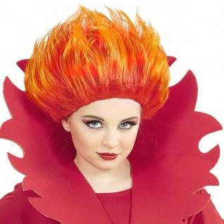 FLAMMEN PERÜCKE Punkerin Mädchen Kinder -Halloween Karneval #74592