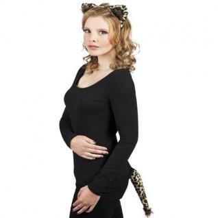Leopard Set 2-tlg. Haarreif und Schwanz - Tier Kostüm-Set NEU