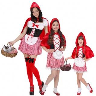 Rotkäppchen Partner Kostüm für Damen Mädchen Kleinkinder - Karneval Fasching