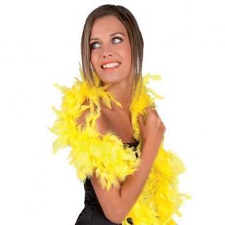 FEDERBOA, gelb ca. 180 cm PREISHIT Show Mottoparty Damen Federschal