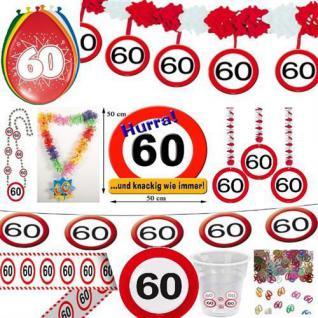Geburtstagsdeko 60. Geburtstag Verkehrsschild Party Zubehör Dekoration Deko