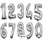XXL Folienballon SILBER Zahlenballon Heliumballon Zahl Geburtstag Jubiläum 0-9