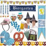 TOP OKTOBERFEST DEKO Bayern Party Bavaria Wiesn blau weiß RIESEN AUSWAHL