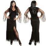DARK LADY Damen Kostüm XS (32/34) schwarzes Kleid Hexe Vampir Gothic Halloween