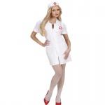 Krankenschwester Damen Kostüm weiß Nurse Gr. S - XL Karneval Uniform Kleid Arzt